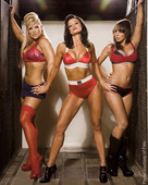 ssl47fo96xi4 Layla, Candice Michelle & Beth Phoenix In FLEX Magazine