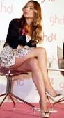 Elsa Pataky Upskirt GHD Pink Hair Madrid